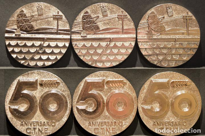 LOTE 6 MEDALLAS METALICAS DE TELEFONICA 50 ANIVERSARIO (Numismática - Medallería - Trofeos y Conmemorativas)