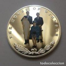 Trofeos y medallas: MONEDA CONMEMORATIVA DE LA CASA DE WINDSOR 4 GENERACIONES. Lote 137958586