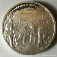Trofeos y medallas: ONZA TROY PLATA PURA 999 ML. VELÁZQUEZ - LA RENDICIÓN DE BREDA - . Lote 139567502