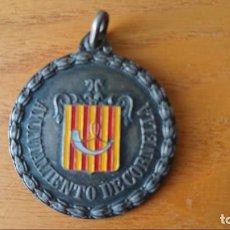 Trofeos y medallas: PLATA INAUGURACIÓN PABELLÓN DE DEPORTES CIUDAD DE CORNELLA . Lote 139807518