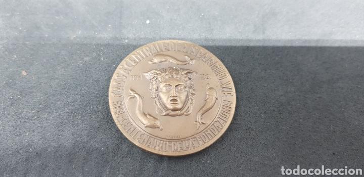 MEDALLA - CASSA CENTRALE DI RISPARMIO- CENTENARIO - CAR126 (Numismática - Medallería - Trofeos y Conmemorativas)