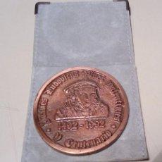 Trofeos y medallas: MEDALLA - V CENTENARIO DE LUIS VIVES-1492-1992-VALENCIA 1492-BRUGGE 1540- BRONCE . Lote 140360658