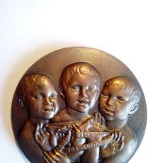 Trofeos y medallas: MEDALLA 1979 AÑO INTERNACIONAL NIÑO DERECHOS FNMT PÁJAROS. Lote 140623010