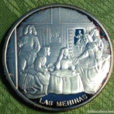 Trofeos y medallas: ONZA TROY PLATA PURA 999 ML. VELÁZQUEZ -LAS MENINAS --. Lote 141536422