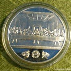 Trofeos y medallas: ONZA TROY PLATA PURA 999 ML. LEONARDO DA VINCI -LA ÚLTIMA CENA --. Lote 141536718