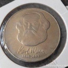 Trofeos y medallas: MONEDA DE 20 MARK DE 1983 ALEMANIA DEMOCRATICA DDR CON EL FILOSOFO KARL MARX 1818-1883. Lote 106152259