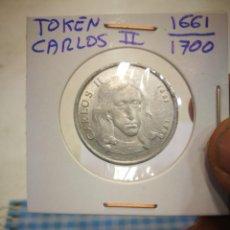 Trofeos y medallas: TOKEN CARLOS II 1661/1700 JETON FICHA DE JUEGO B.C. Lote 142314282