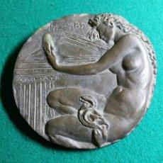 Trofeos y medallas: ENORME MEDALLA ANIV. DE LA CAMERA OFICIAL DE LA PROPIETAT URBANA DE REUS 1910-1985 14 CM A. ALDOMAR. Lote 143079998