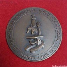 Trofeos y medallas: MEDALLA III SIMPOSIO INTERNACIONAL SOBRE FOSFOMICINA MADRID 1981-EN CAJA ORIGINAL- SC. Lote 143690225