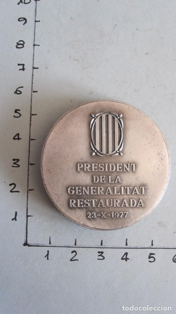 Trofeos y medallas: MEDALLA JOSEP TARRADELLAS I JOAN - PRESIDENT DE LA GENERALITAT RESTAURADA 23-X-1977 - Foto 2 - 144003574