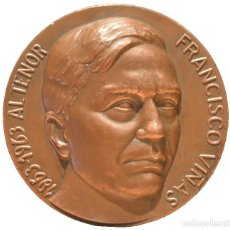 Trofeos y medallas: MEDALLA FRANCESC VIÑAS TENOR CATALUÑA LICEU CONCURSO INTERNACIONAL DE CANTO 1º CENTENARIO. Lote 144147518