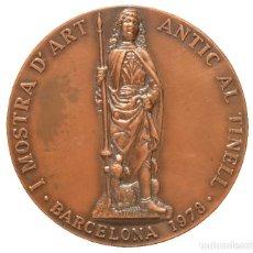 Trofeos y medallas: MEDALLA EN BRONCE BARCELONA 1978 1ª MOSTRA D`ART ANTIC AL TINELL BARRI GOTIC. Lote 144318034