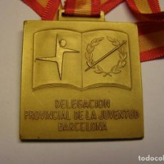 Trofeos y medallas: MEDALLA DELEGACION JUVENTUD BARCELONA, XXIX CAMPEONATOS ESCOLARES, AÑO 1977. CATEG. ORO.. Lote 145044674