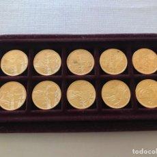 Trofeos y medallas: 10 MONEDAS JUEGOS OLÍMPICOS 1964 HASTA 2000 CON ESTUCHE, LAMAS BOLAÑO MONEDA. Lote 146624794