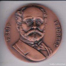 Trofeos y medallas: MEDALLA DE FELIP PEDRELL DE 5 CM DE DIAMETRO (PUJOL) . Lote 147087438