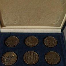 Trofeos y medallas: COLECCION DE MEDALLAS DE LAS SEIS REUNIONES DE CARDIOLOGIA EXTRAHOSPITALARIA, DEL 1993 AL 1998.. Lote 147638778