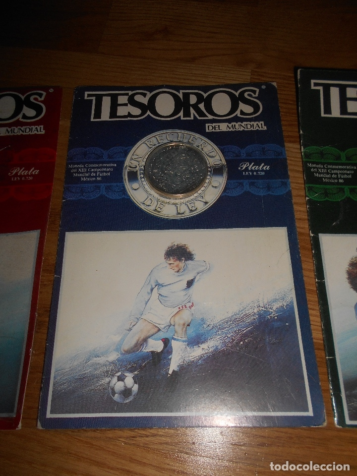 Trofeos y medallas: TESOROS DEL MUNDIAL PLATA LEY MEXICO 86 EDIESA 1985 LOTE DE 3 MONEDAS - Foto 3 - 147917842