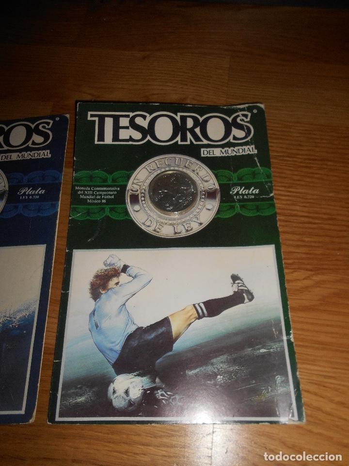 Trofeos y medallas: TESOROS DEL MUNDIAL PLATA LEY MEXICO 86 EDIESA 1985 LOTE DE 3 MONEDAS - Foto 4 - 147917842