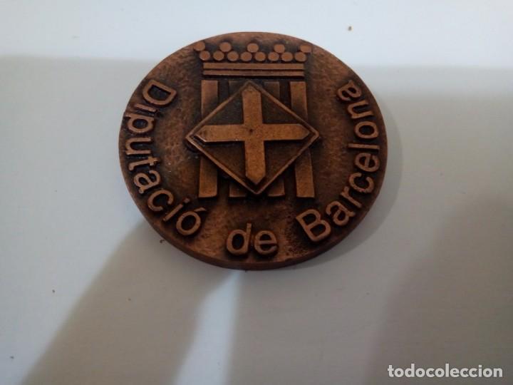 MEDALLA DE LA DIPUTACIÓN DE BARCELONA BRONCE (Numismática - Medallería - Trofeos y Conmemorativas)