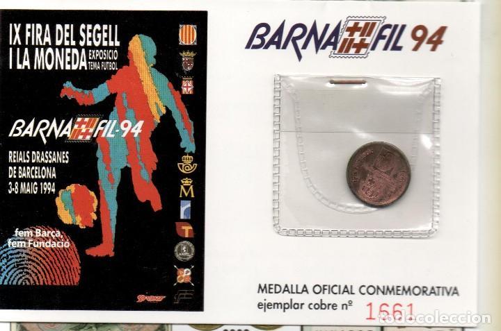 Trofeos y medallas: FUTBOL CLUB BARCELONA - MEDALLA CONMOMERATIVA - BARNAFIL 1994 - Foto 3 - 166799853