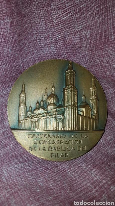 Trofeos y medallas: MEDALLA DEL CENTENARIO DE LA CONSAGRACIÓN DE LA BASÍLICA DEL PILAR - Foto 3 - 148345800