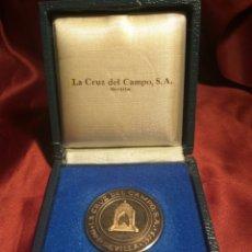 Trofeos y medallas: MEDALLA PLATA 75 ANIVERSARIO CRUZ CAMPO. Lote 148569705
