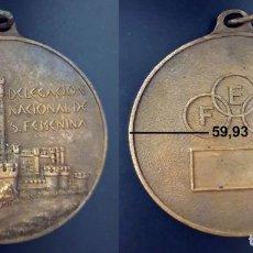 Trofeos y medallas: MEDALLA DELEGACION NACIONAL DE SECCION FEMENINA - DIAMETRO: 59,93 MM - PESO: 105 GRAMOS. Lote 149276426