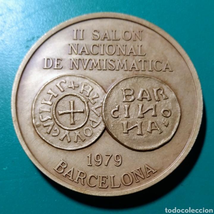 MEDALLA ANE. II SALON NACIONAL NUMISMÁTICA.1979. (Numismática - Medallería - Trofeos y Conmemorativas)