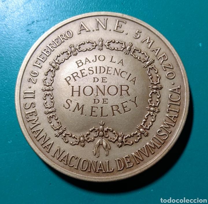 Trofeos y medallas: Medalla ANE. II Salon Nacional Numismática.1979. - Foto 2 - 150275837