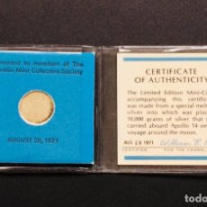 Trofeos y medallas: APOLLO 14 / NASA - MONEDA CONMEMORATIVA HECHA CON PARTES DEL APOLLO 14. Lote 151006370