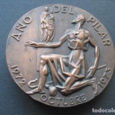 Trofeos y medallas: MEDALLA BRONCE CENTENARIO DE LA CONSAGRACION BASILICA DEL PILAR ZARAGOZA 1972 - 1973. Lote 151151034