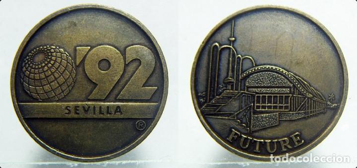 EXPO SEVILLA 92 FUTURE (Numismática - Medallería - Trofeos y Conmemorativas)