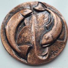 Trofeos y medallas: MEDALLA CONMEMORATIVA SOFINUTA. X MARENOSTRUM 1983. BRONCE. TARRAGONA. 6 CM. DIAMETRO.. Lote 152045038