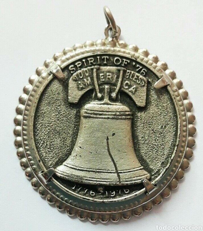 MEDALLÓN, MEDALLA DEL BICENTENARIO DE LA CAMPANA DE LA LIBERTAD 1776- 1976 LIBERTY BELL MEDALLA (Numismática - Medallería - Trofeos y Conmemorativas)