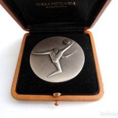 Trofeos y medallas: INAUGURACION EDIFICIO P.A.M.D.B. 1973 - MOTIVO FUTBOL - MEDALLA EN PLATA EN EXCELENTE ESTADO - RARA. Lote 152802198