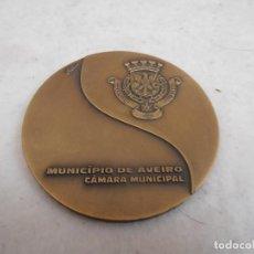 Trofeos y medallas: MEDALLON BRONCE - FEIRA DE MARCO 1999 AVEIRO - 25 MARCO - MUNICIPIO DE AVEIRO. Lote 154329330