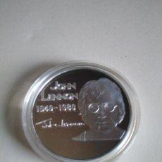 Trofeos y medallas: MONEDA CONMEMORATIVA,JOHN LENNON,1940-1980, 28,5 GRAMOS.COLECCIONISTAS. Lote 154500710