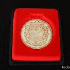 Trofeos y medallas: MEDALLA CONMEMORATIVA 25 ANIVERSARIO ZAPATILLAS PONS QUINTANA EN PLATA 800. Lote 155089486