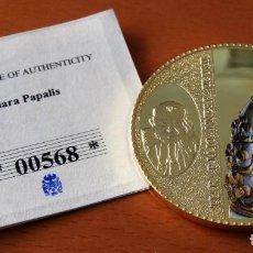 Trofeos y medallas: MONEDA CONMEMORATIVA JUAN PABLO II - TIARA PAPALIS - VATICANO - ORO 24 KILATES - CERTIFICADO . Lote 155154942