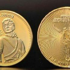 Trofeos y medallas: MEDALLA CONMEMORATIVA DEL FAMOSO CANTANTE MICHAEL JACKSON - ESTRELLA DE HOLLYWOOD . Lote 155793222