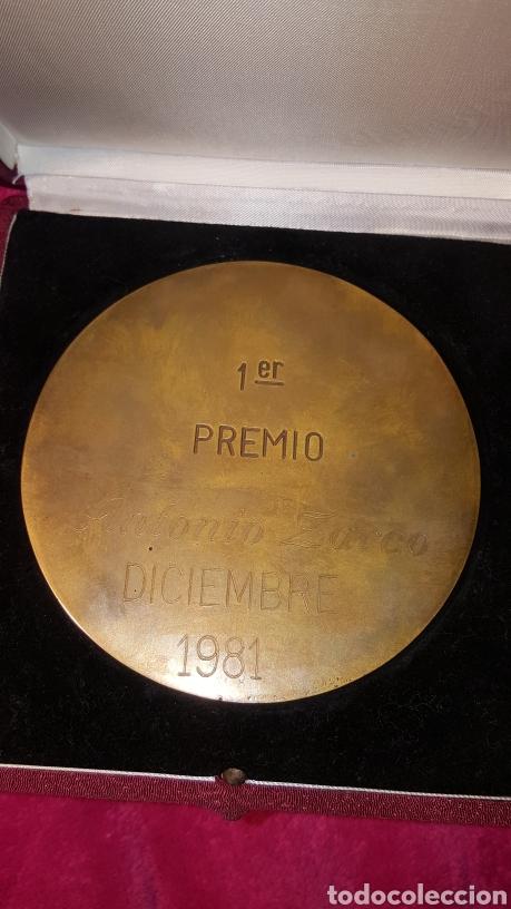 Trofeos y medallas: PRIMER PREMIO DE PINTURA. ANTONIO ZARCO. 1981 - Foto 3 - 156538830