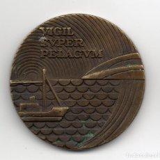 Trofeos y medallas: 2 MEDALLAS DE BRONCE VIGIL SUPER PELAGUM COMPAÑÍA TELEFÓNICA NACIONAL DE ESPAÑA 1977. Lote 156892250