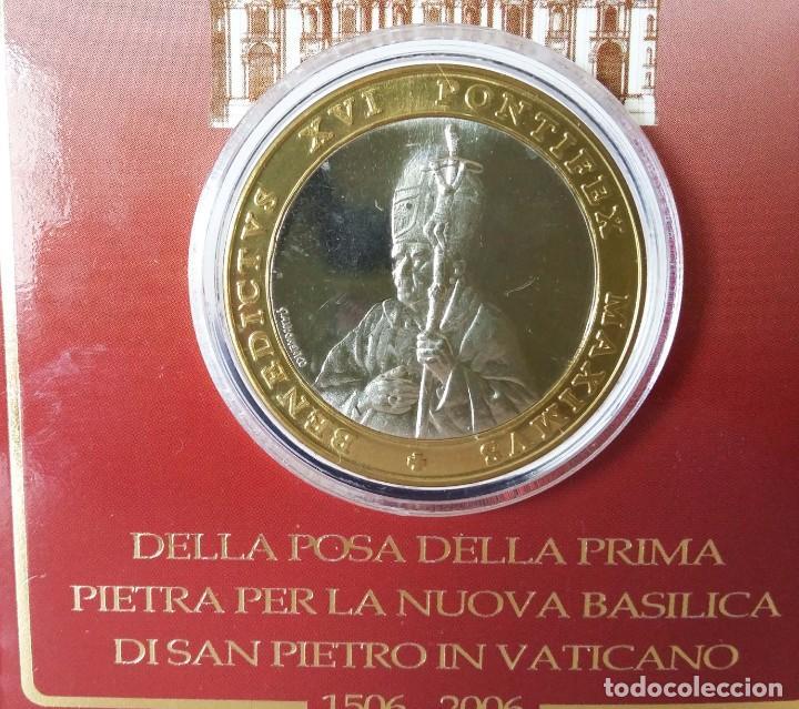 Trofeos y medallas: Medalla V Centenario Basílica Vaticana: desde la Postura de la Primera Piedra (1506-2006) - Foto 2 - 157011598