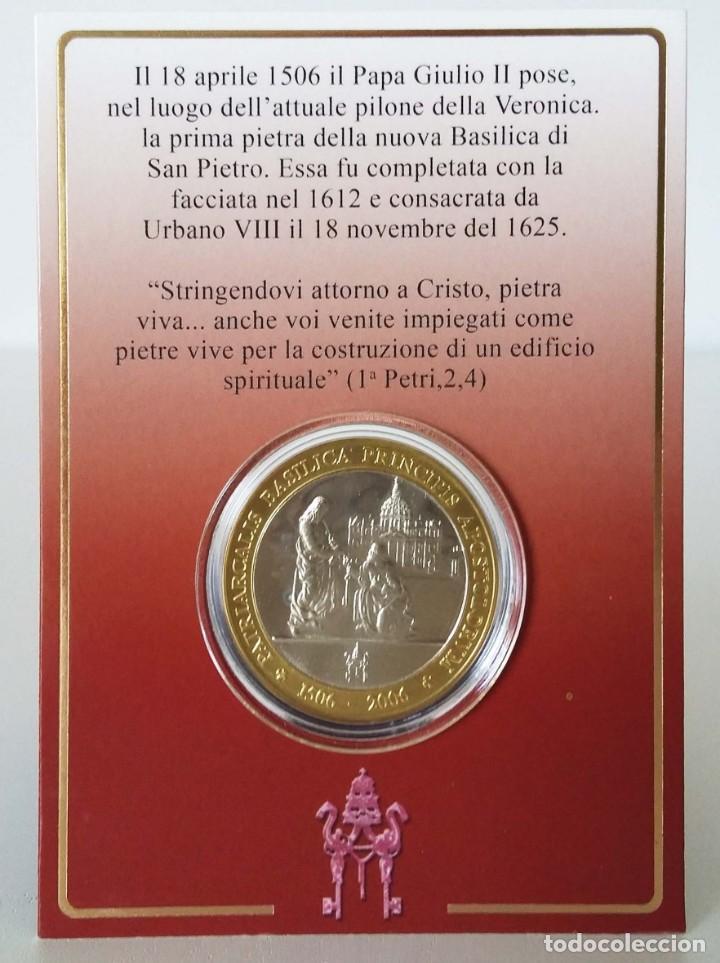 Trofeos y medallas: Medalla V Centenario Basílica Vaticana: desde la Postura de la Primera Piedra (1506-2006) - Foto 3 - 157011598