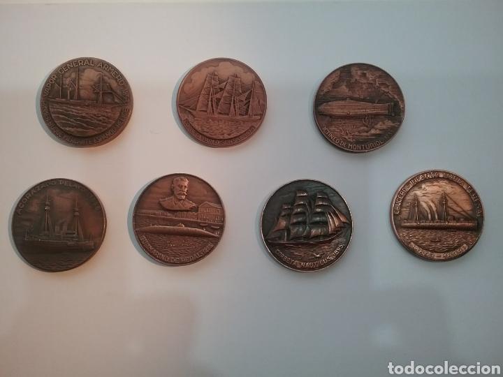 Trofeos y medallas: Lote de 7 medallas de Salón Náutico Barcelona - Foto 2 - 159533954