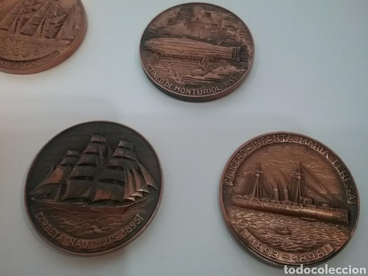 Trofeos y medallas: Lote de 7 medallas de Salón Náutico Barcelona - Foto 3 - 159533954