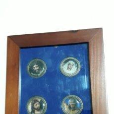 Trofeos y medallas: MONEDAS CONMEMORATIVAS SEMANA SANTA PASION DEL SUR 2013 MALAGA. Lote 159898161