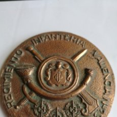 Trofeos y medallas: REGIMIENTO DE INFANTERÍA VALENCIA 23. 1658-1985. MEDALLA DE MANO. Lote 160809038