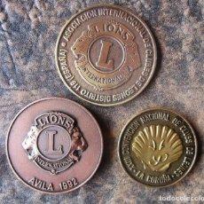 Trofeos y medallas: LOTE 3 MEDALLAS CONMEMORATIVAS CLUB DE LEONES GRAN CANARIA. Lote 161799526