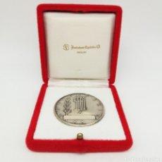 Trofeos y medallas: MONEDA/MEDALLA DE PLATA. CONMEMORACIÓN DE 20 AÑOS DE TRABAJO EN SEAT - ACUÑACIONES ESPAÑOLAS SA. Lote 161963490